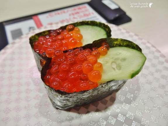 sushi 105 yens sushi pas cher à Shibuya Tokyo