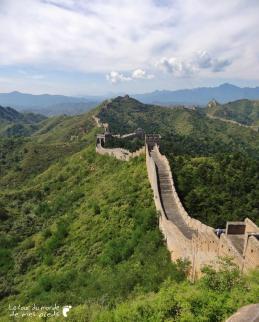 vue depuis une tour de la grande muraille