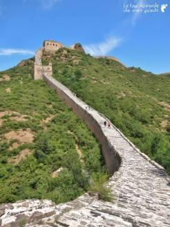 touristes grande muraille