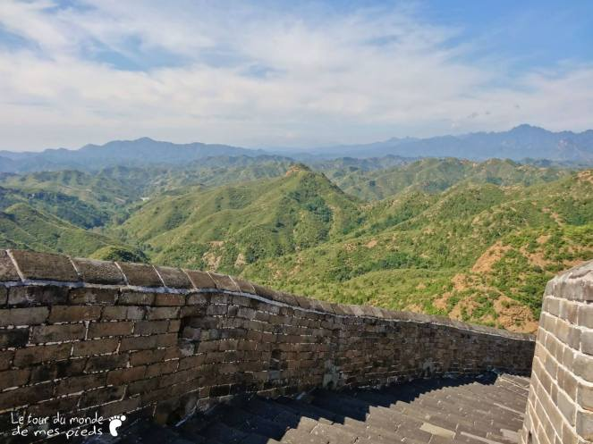 sur la grande muraille de chine