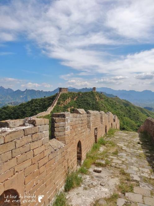 marcher sur la grande muraille