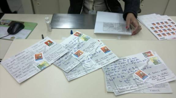 cartes postales brésil timbre