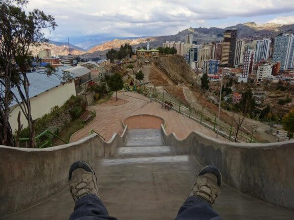 toboggan la paz bolivie