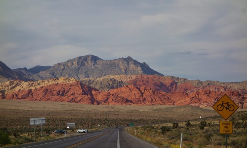 entrée au parc du red rock canyon