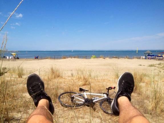 Le Grau Du Roi pieds vélo