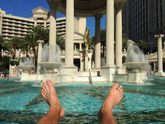 caesars palace piscines