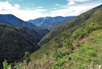 Paysage Route de la mort Bolivie