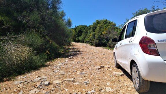 Google maps Crète route non bitumée
