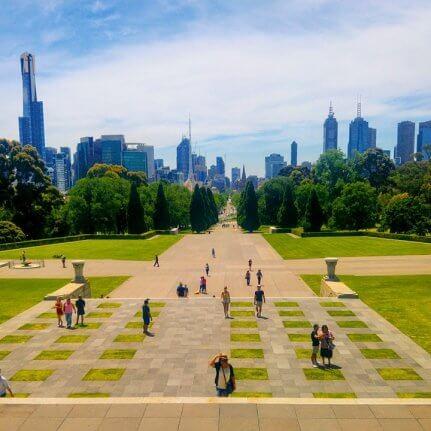 Melbourne Skyline Shrine of Remembrance