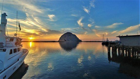 Morro Bay coucher de soleil