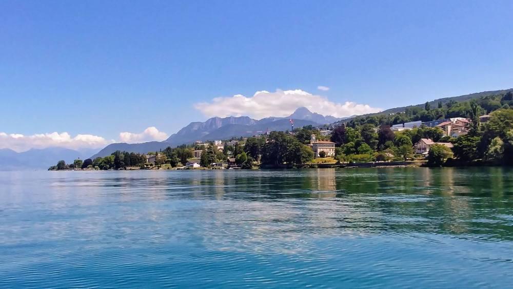 Evian panorama Lac
