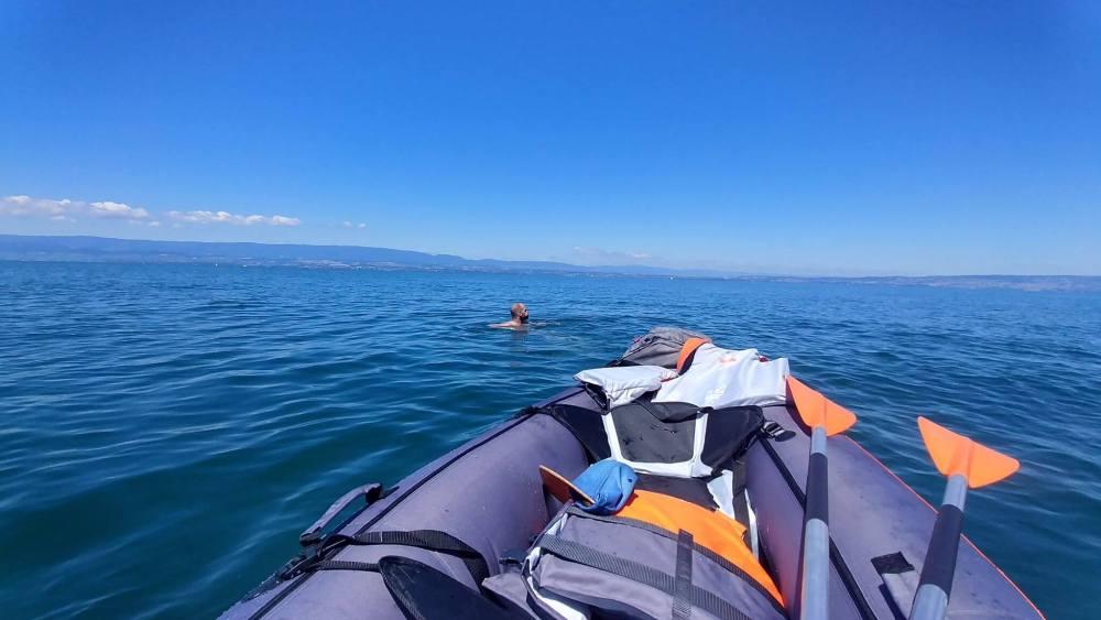 baignade kayak Leman