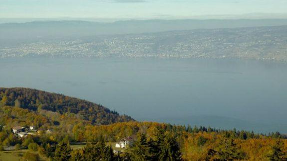 Thollon panorama Lac