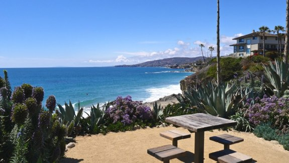 table de camping californie vue mer