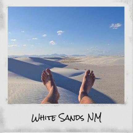 tour du monde pieds white sands