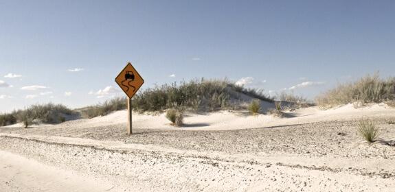 white sands national monument panneau