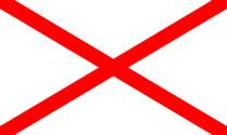Croix de Saint-Patrick : drapeau de l'Irlande du Nord