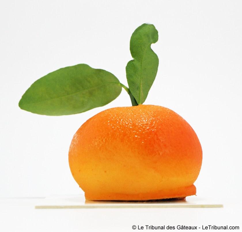 bûche de Noël mandarine karamel