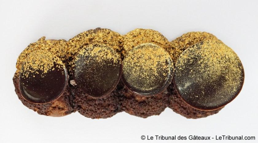 Vue Haut Eclair de Choc Pâtisserie Sitron Sans Gluten