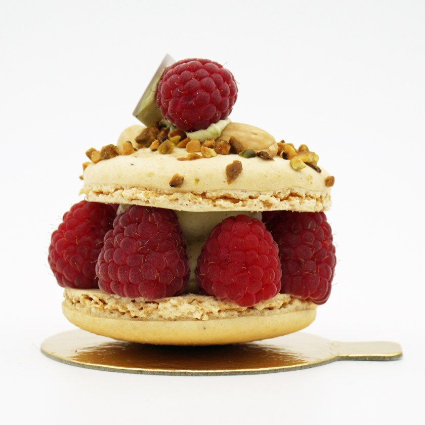 macaronade framboise pistache maison landemaine