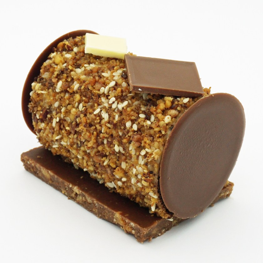 bûche de noël chocolat noisette halva maison aleph