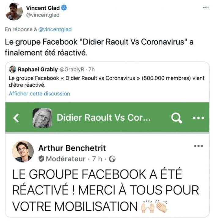 Groupe Facebook Raoult