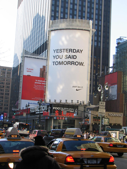 Lets Be Brief  Nike  Yesterday You Said Tomorrow