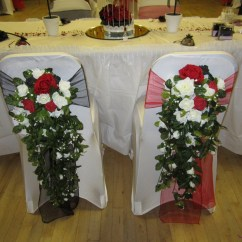 Chair Cover Hire Manchester Uk Metal Outdoor Table And Chairs Australia Covers At Let S Celebrate Weddings In Balloon Organza Sash With Teardrop Bouquet