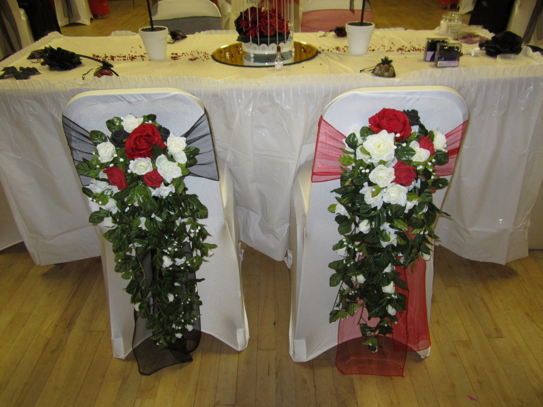 chair cover hire manchester uk oversized reclining covers at let s celebrate weddings in balloon organza sash with teardrop bouquet