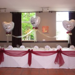 Chair Cover Hire Manchester Uk White Material Dining Chairs Cloud 9 Balloons At Let S Celebrate Weddings In Hyde