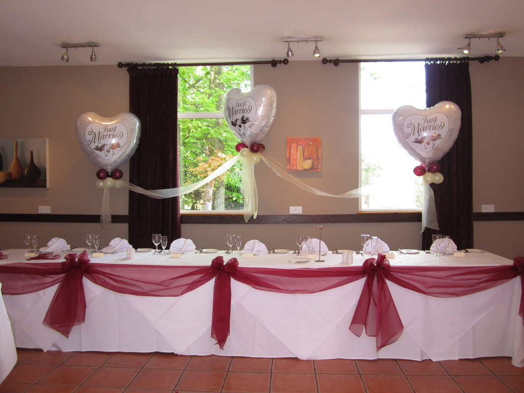 chair cover hire manchester uk small patio table 2 chairs cloud 9 balloons at let s celebrate weddings in hyde