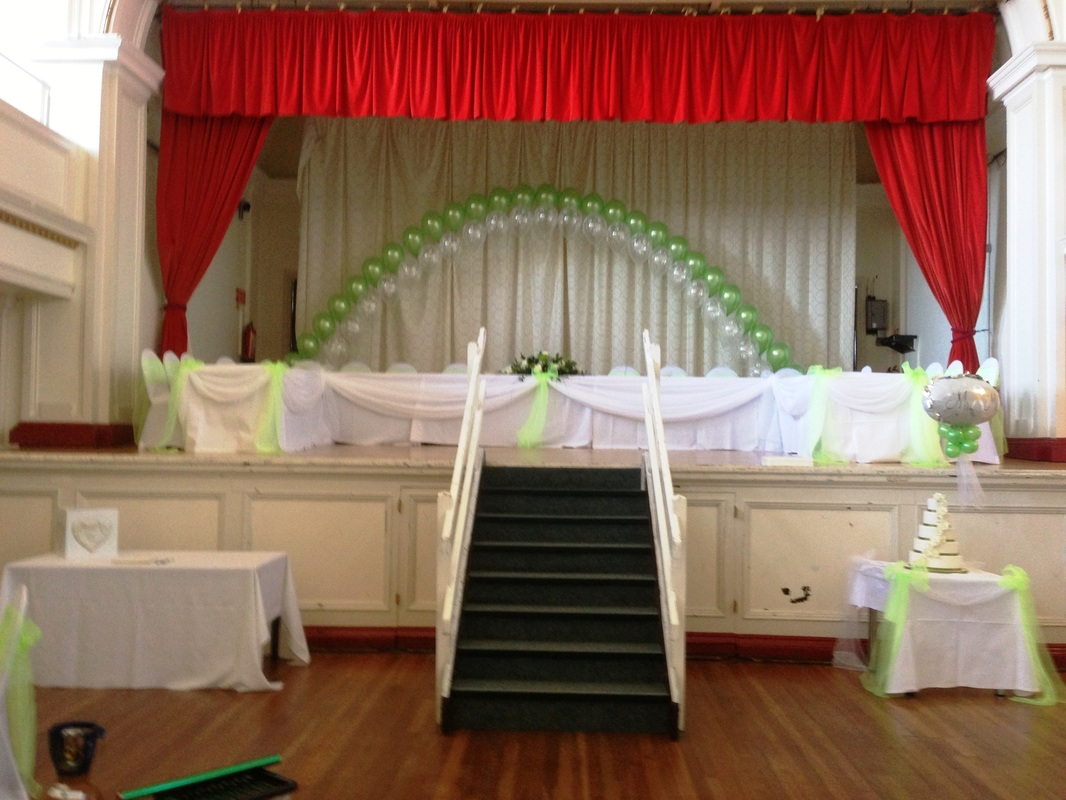 chair cover hire manchester uk fire pit table and chairs set balloon arches at let 39s celebrate weddings in