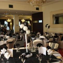 Chair Cover Hire Manchester Uk Rattan Nest Weddings In Balloon Decoration Black White Ball Britannia Country House
