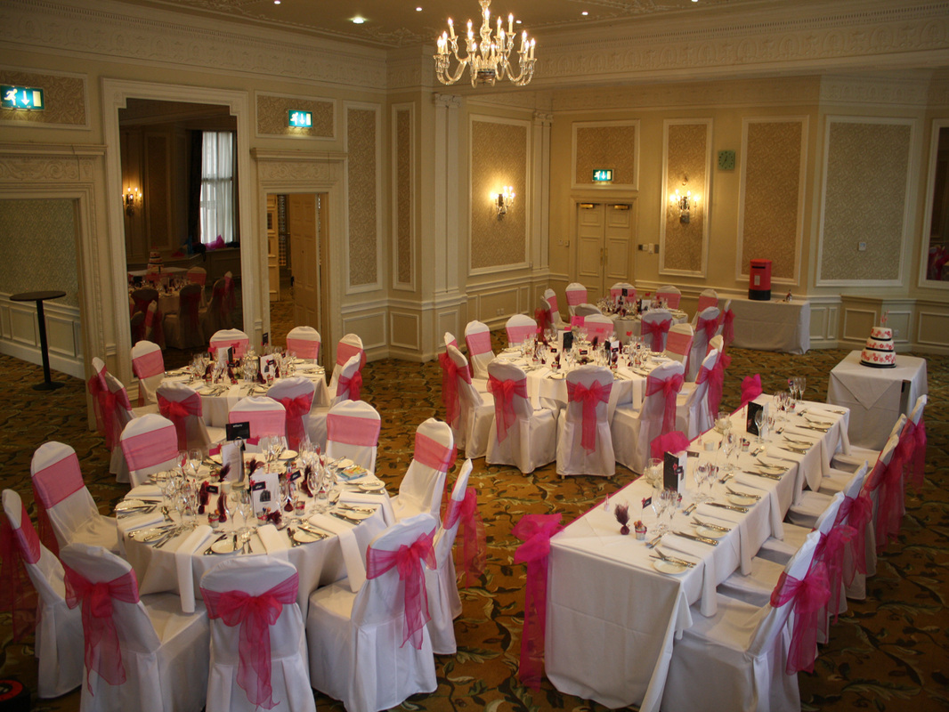 chair cover hire manchester uk white lounge canada weddings in balloon decoration wedding midland hotel