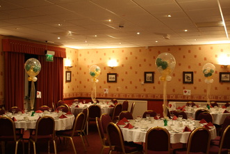 chair cover hire manchester uk graco high tray balloon decoration by let s celebrate weddings in balloons