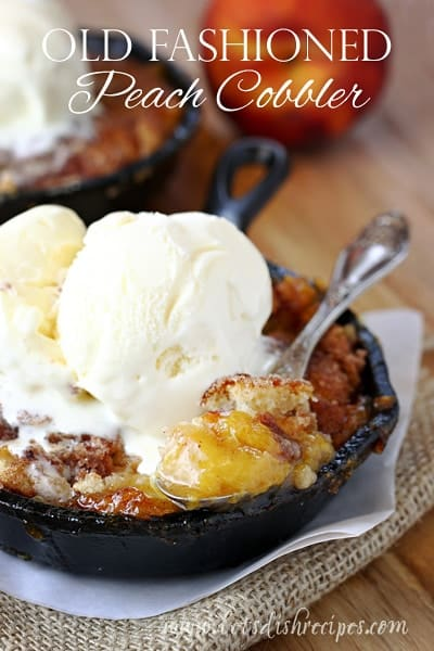 Old Fashion Peach Cobbler {Let's Dish}