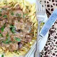 Pressure Cooker Beef Stroganoff {Instant Pot}
