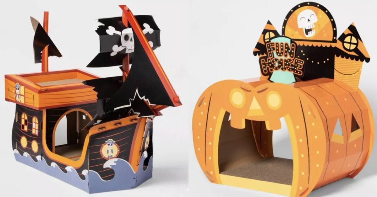 From knock knock jokes to corny puns, these funny halloween jokes for kids had our panel of little ghosts and ghouls laughing the hardest. Here's Target's Spooky Halloween Cat Houses for 2021 | Let's Eat Cake