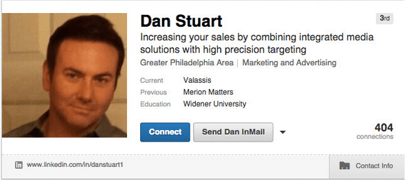 An example of what to write in a LinkedIn headline for multiple jobs.
