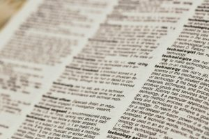 dictionary. Photo by Joshua Hoehne on Unsplash