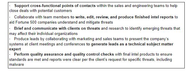 bold on resume keywords example