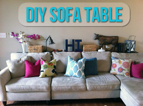 behind the sofa table pay weekly sofas no credit checks diy let s get crafty styling