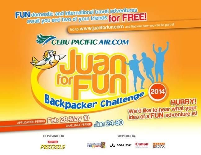 Cebu Pacific Juan for Fun Backpacker Challenge 2014