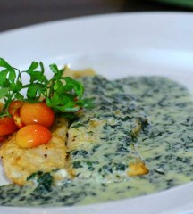 Fish in Pesto Cream