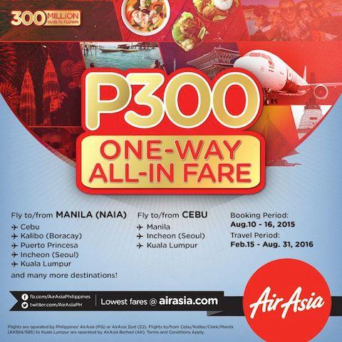 AirAsia P300 Fare Promo