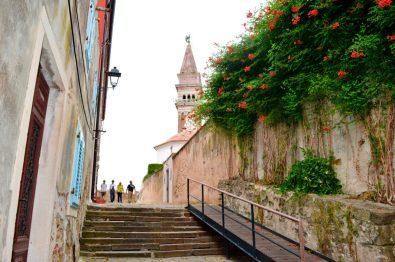 Piran old town stairs