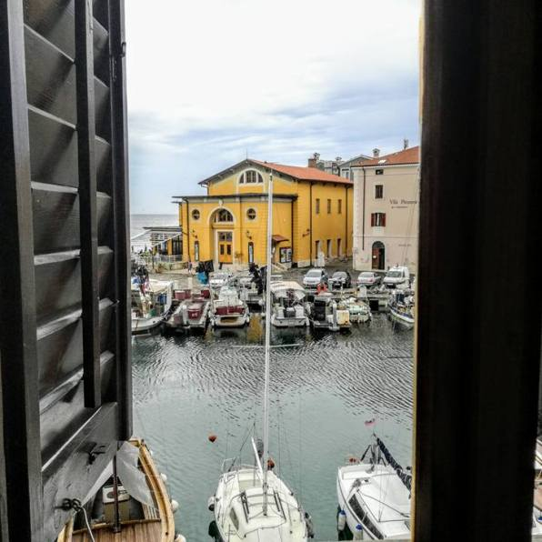 A view of Piran from one of the musuem's rooms.