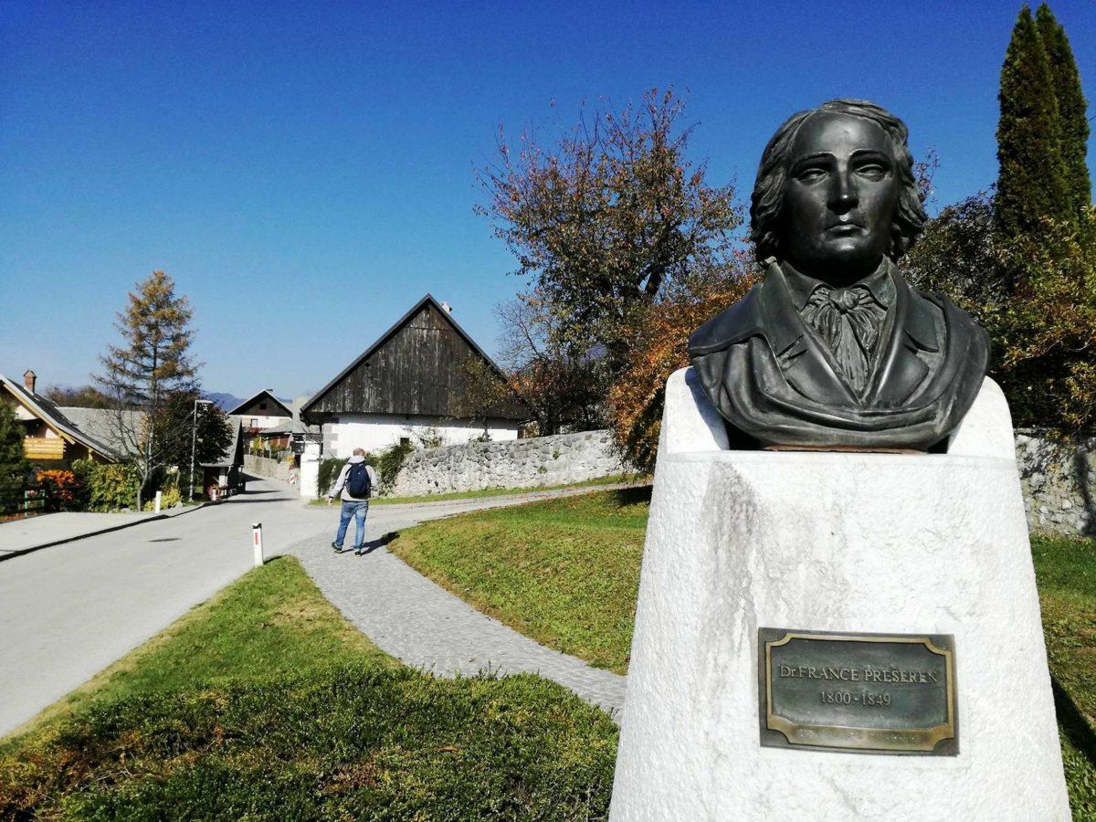 Visiting Prešeren's birth house in Vrba