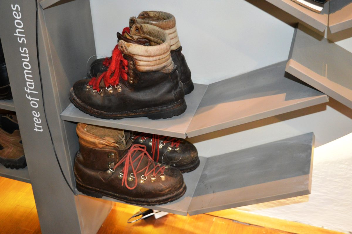 Shoes by Slovene climber Viki Grošelj.