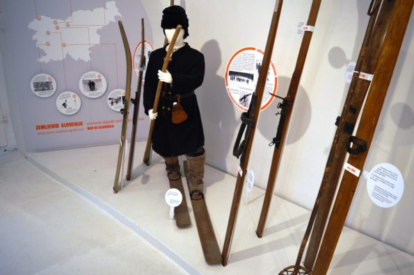 The Bloke  skier - a pioneer of a ski movement in Central Europe - as portrayed in the Tržič museum.